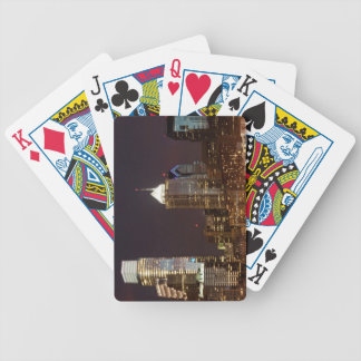 Modern skyscrapers of Philadelphia downtown Bicycle Playing Cards