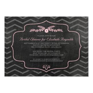 Modern Slate Bridal Shower Invitations