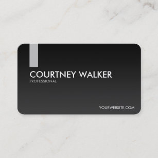 Color psychology business cards templates zazzle modern sleek black and silver business cards colourmoves