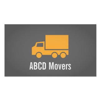 Modern, Sleek, Chic, Mover Company, camión anaranj Tarjeta De Visita