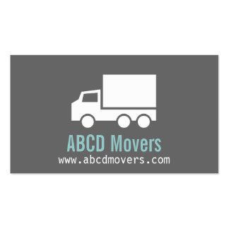 Modern, Sleek, Chic, Mover Company, white Truck Business Card Template