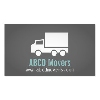 Modern, Sleek, Chic, Mover Company, white Truck Double-Sided Standard Business Cards (Pack Of 100)