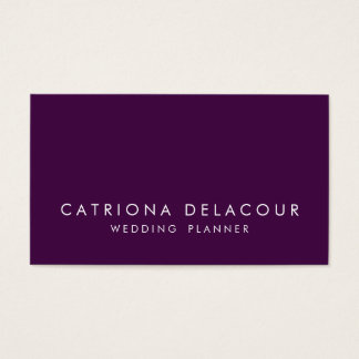 Modern Sleek Elegant Dark Purple Business Card