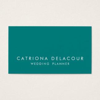Modern Sleek Elegant Teal Business Card