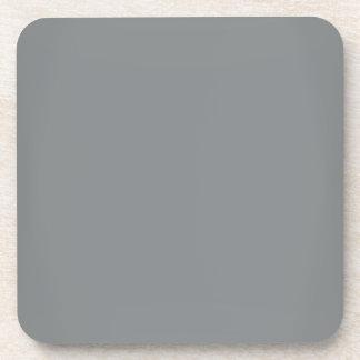 Modern Sleek Silver Customizable Coaster