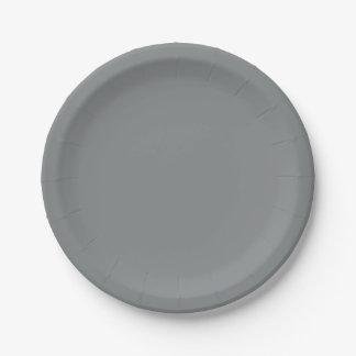 Modern Sleek Silver Customizable Paper Plate
