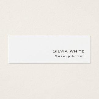 Modern Slim Makeup Artist Hairdresser Salon Spa Mini Business Card