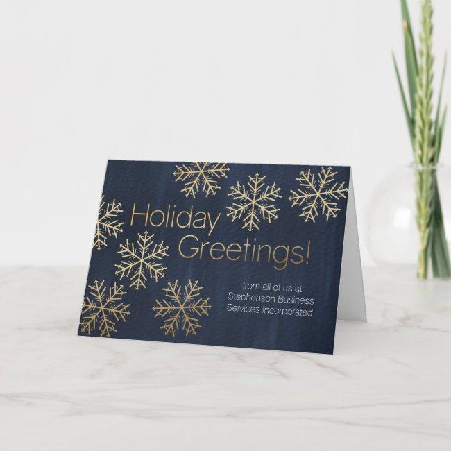 Modern Snowflake Holiday Greeting Business Holiday