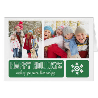 MODERN SNOWFLAKE | HOLIDAY GREETING CARD