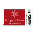 Modern Snowflake Holiday Stamp