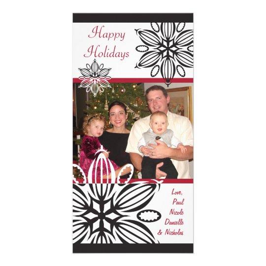 Modern Snowflake Photo Card