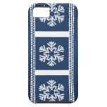 Modern Snowflakes iPhone 5 Vibe Case, Blue iPhone 5 Case