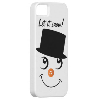 Modern Snowman Winter Holiday iPhone 5/5S Case