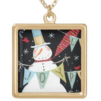 Modern Snowmen Love, Joy, Peace Necklaces