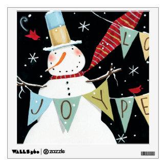 Modern Snowmen Love, Joy, Peace Wall Sticker