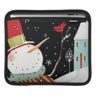 Modern Snowmen Winter Home Sleeve For iPads