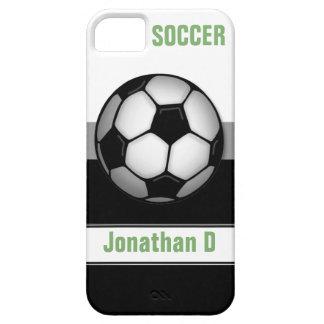 Modern Soccer Ball green custom iPhone 5 Case
