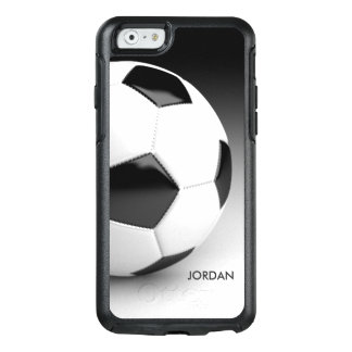 Modern Soccer Ball Personalized With Your Name OtterBox iPhone 6/6s Case