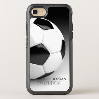 Modern Soccer Ball With Your Name OtterBox Symmetry iPhone 7 Case