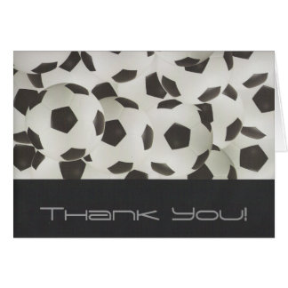 Modern Soccer Balls Thank You Card