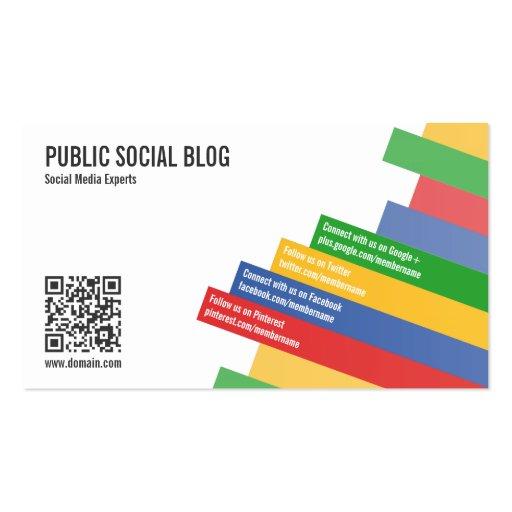 Modern Social Media QR Code Business Cards