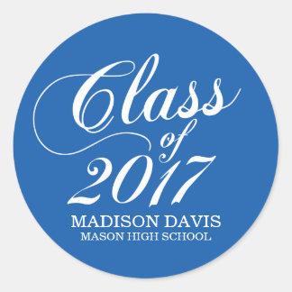 Modern Solid Blue | Graduation Stickers