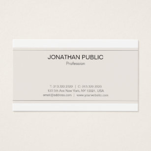 Sophisticated business cards templates zazzle modern sophisticated minimalistic trendy plain business card colourmoves