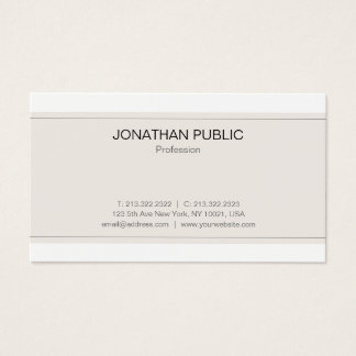 Modern Sophisticated Minimalistic Trendy Plain Business Card