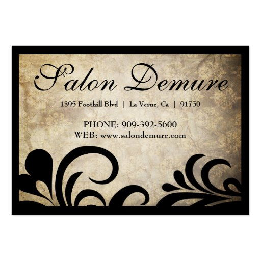 Modern Sophisticated Salon Gift Certificates Business Card