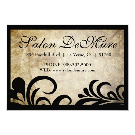 Modern Sophisticated Salon Gift Certificates Card
