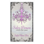 Modern Sophisticated Silver Purple Designer Salon Business Card Templates