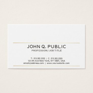 Lawyer Themed Modern Sophisticated Simple Plain Gold Stripes Business Card