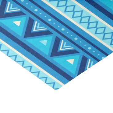 Aztec Themed Modern Southwestern Geometric, Blue & Turquoise Tissue Paper