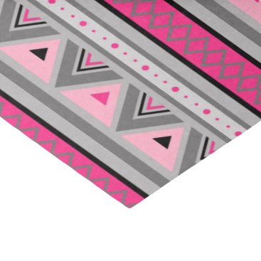 Aztec Themed Modern Southwestern Geometric, Pink and Gray Tissue Paper