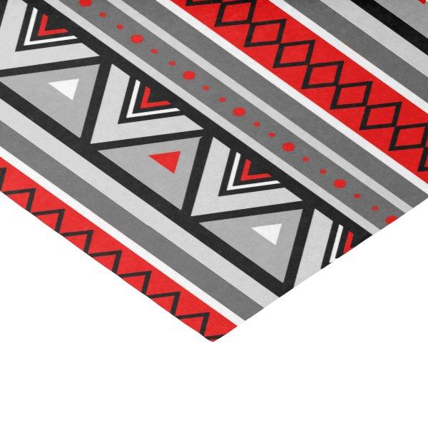 Modern Southwestern Geometric, Red & Gray / Grey Tissue Paper