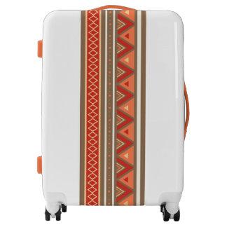 Modern Southwestern Geometric, Taupe & Orange Luggage