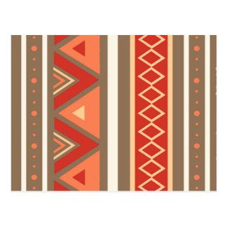 Modern Southwestern Geometric, Taupe & Orange Postcard
