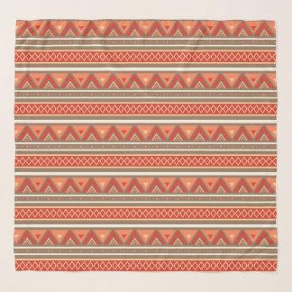 Modern Southwestern Geometric, Taupe & Orange Scarf