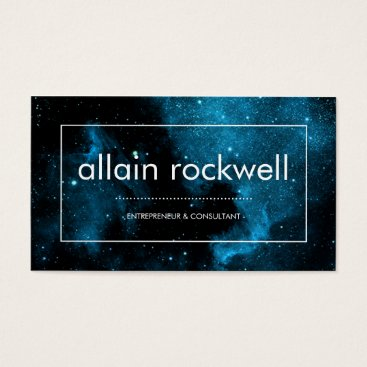 Professional Business Modern Space Galaxy Business Card