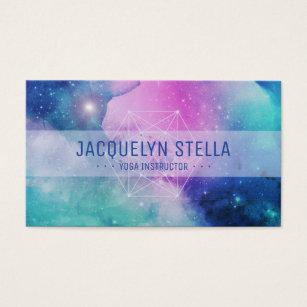 New age business cards templates zazzle modern space nebula sacred geometry yoga business card colourmoves