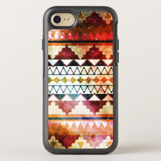 Modern Space Tribal Print Jewel Tones OtterBox Symmetry iPhone 7 Case