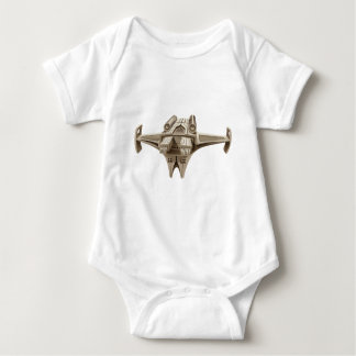 Modern spaceship with wings infant creeper