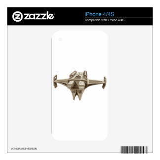 Modern spaceship with wings iPhone 4S skin