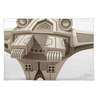 Modern spaceship with wings placemat