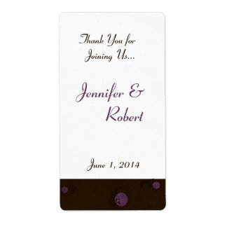 Modern Spectacular Circles in Brown, White, Purple Shipping Label