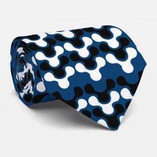 Modern Spine Logo [Blue] Chiropractor Neck Tie
