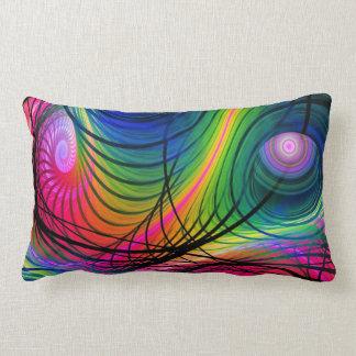 Modern Spiral & Circles Abstract pillow