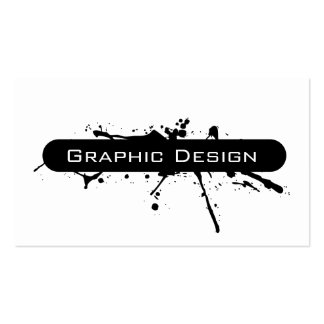Modern Splash Graphic Design Double-Sided Standard Business Cards (Pack Of 100)