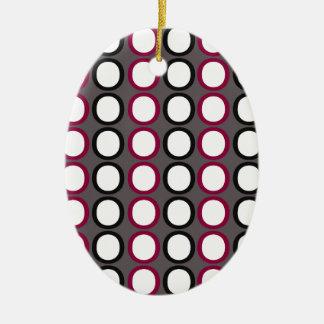 Modern Splash of O's Ceramic Ornament