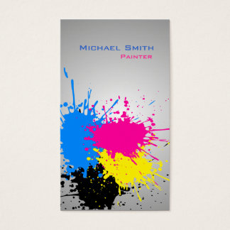 Modern splash professional paint business business card